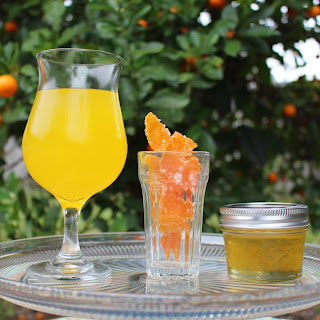 Candied Kumquat Peels, Kumquat Syrup, and Kumquat-Ade.