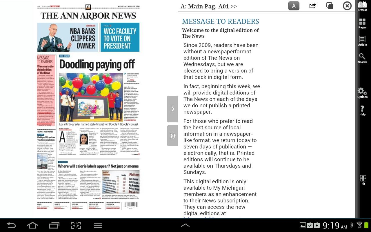 Ann Arbor News- screenshot
