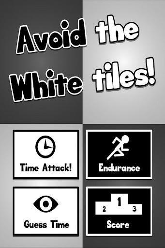 Avoid the white tiles