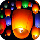 Colorful Flying Paper Lanterns icon