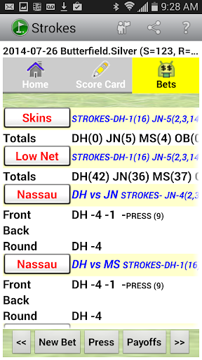 【免費運動App】Golf Strokes & Bets Free-APP點子