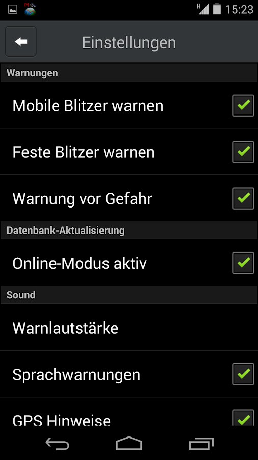 CamSam - Der Blitzerwarner – Screenshot