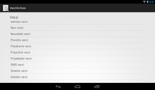 Verzi, Vici, Šale, ...- screenshot thumbnail