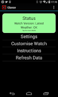 Screenshot of Glance for Pebble