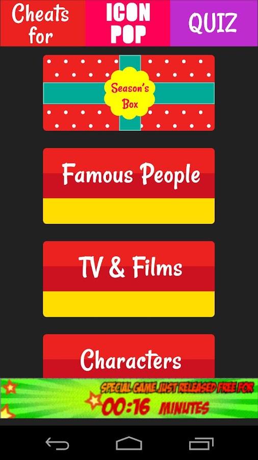 Cheats for Icon Pop Quiz- screenshot