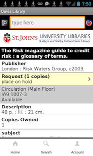 SJU Davis Library Mobile- screenshot thumbnail