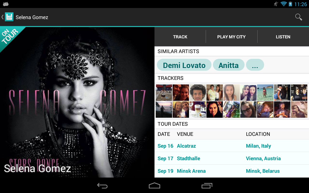 Bandsintown Concerts - screenshot