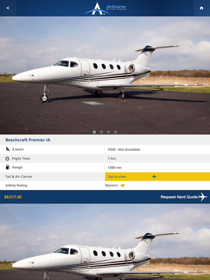 AirCharter Private Jet Charter- screenshot