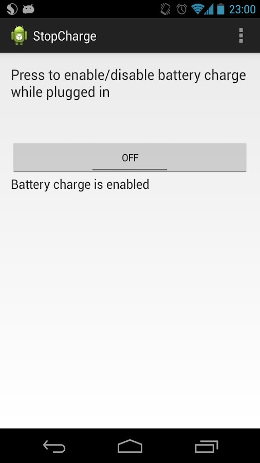 StopCharge BETA (Nexus 4)- screenshot