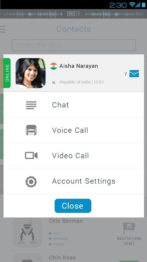 DROTR - Calls&Chat Translator - screenshot