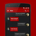 EvolveSMS Theme Stealth Red icon