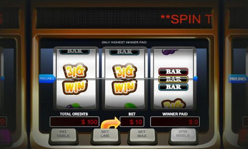 You spin slot machine