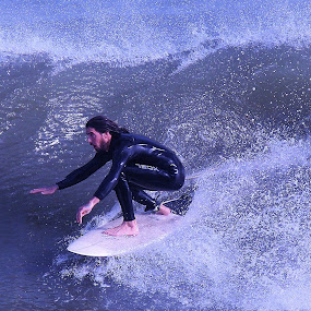 Riding on Water by Dominick Darrigo - Sports & Fitness Surfing