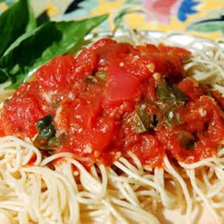 Fresh Tomato Pasta.