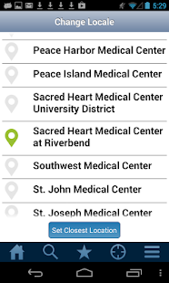 PeaceHealth MediLocator- screenshot thumbnail