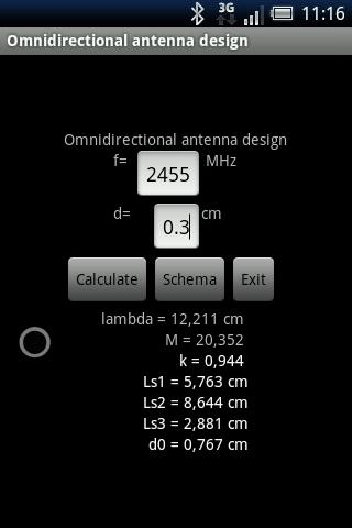 Omnidirectional antenna design - screenshot
