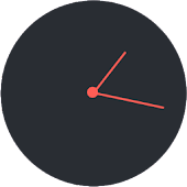 Flat analog clock for Zooper