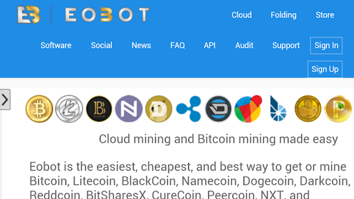 Eobot Cloud mining Bitcoin