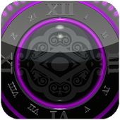 Purple Glow Magic Clock Widget