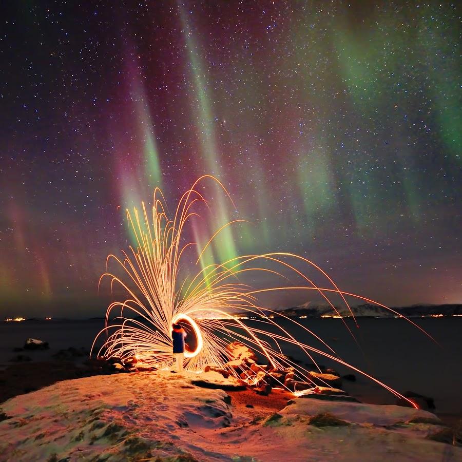 Northern lights over Vesterålen by Marius Birkeland - Landscapes Starscapes (  )