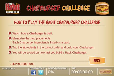 The Habit Charburger Challenge - screenshot