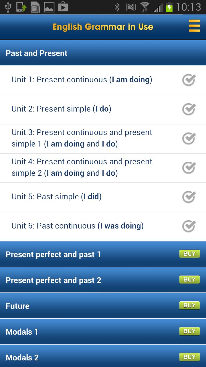 English Grammar in Use Screenshot 0