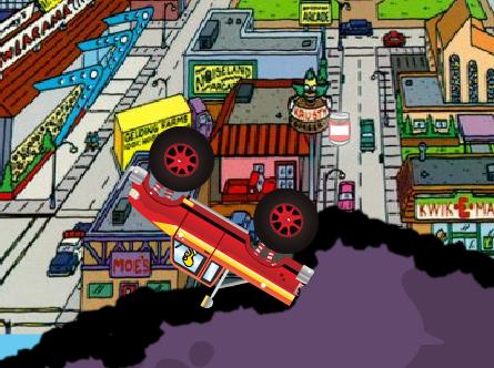 Homer Simpson im Monsterauto
