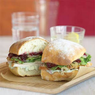Turkey Sandwiches with Shallots, Cranberries, and Blue Cheese.