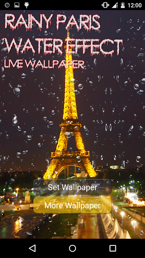 Rainy Paris Water Effect LWP
