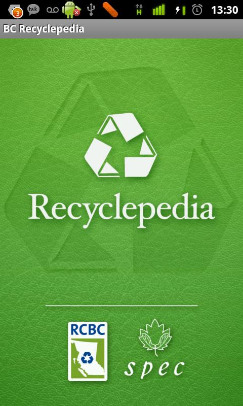 BC Recyclepedia - screenshot