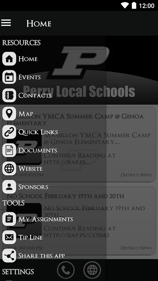 Perry Local Schools- screenshot