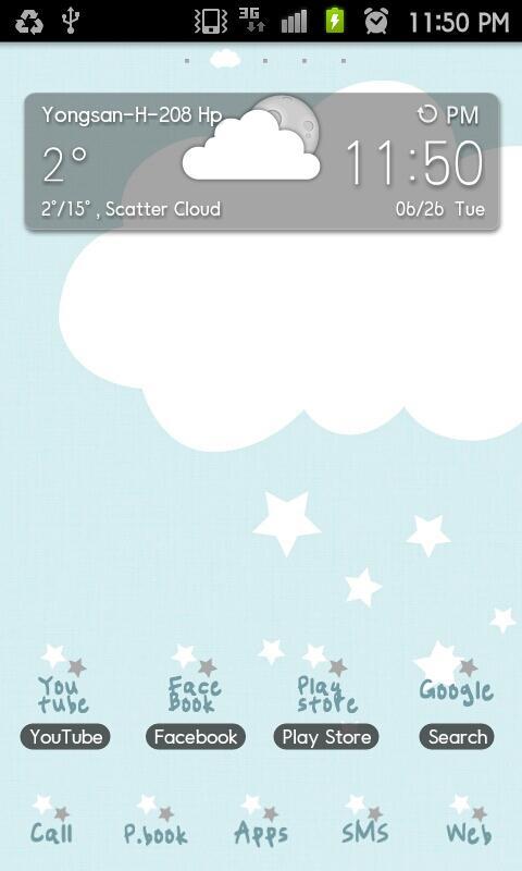 Pepe-blue GO Launcher theme - screenshot