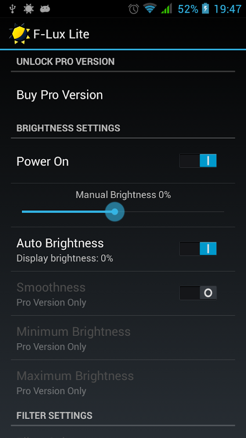 Screen Brightness Control Lite - screenshot