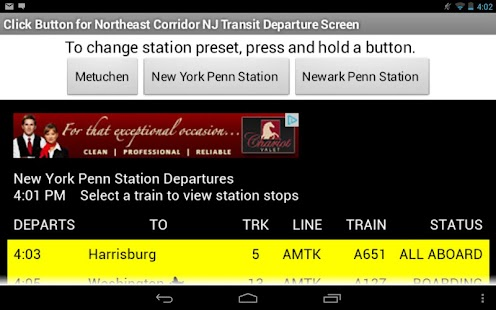 NJ Transit NEC Departures- screenshot thumbnail