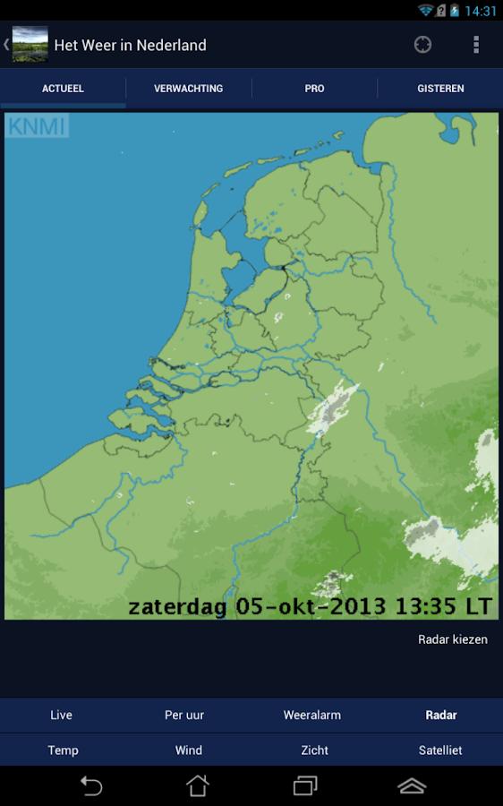 Het Weer in Nederland - screenshot
