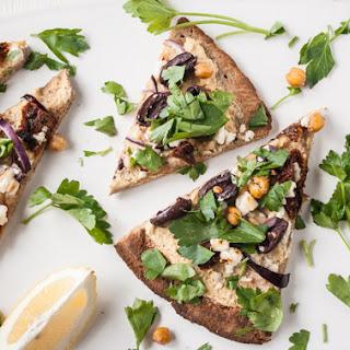 Mediterranean Hummus Pizza