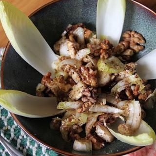 Walnut and Feta Endive Salad Honey Balsamic Vinaigrette