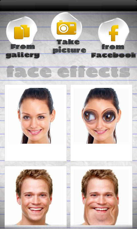 Funny Face Effects- screenshot