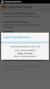Google Music Offline Exporter - screenshot thumbnail