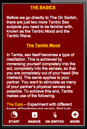 Tantric Sex Secrets: On Switch