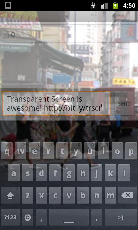 Transparent Screen - screenshot