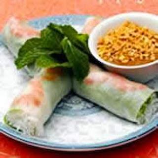 Asian Fresh Pork and Shrimp Spring Rolls.