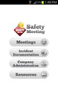 Screenshot of Safety Meeting App