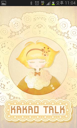 카카오톡 테마 - 기린소녀 노랑