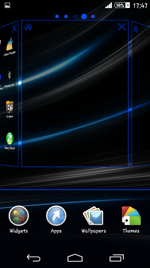 Rays Blue Theme For Xperia- screenshot