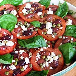 Tomato, Caper, Olive & Blue Cheese Salad