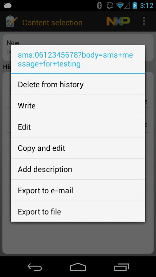 NFC TagWriter by NXP - screenshot