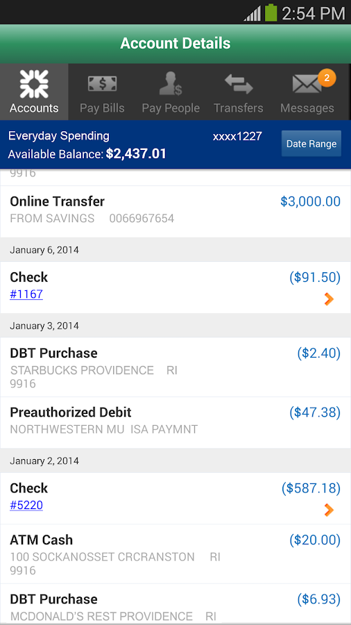 Charter One Mobile Banking - screenshot