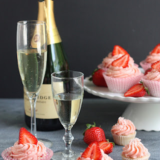 Strawberries and Champagne Cupcakes.