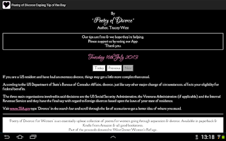 Screenshot of Divorce Coping Tip of the Day